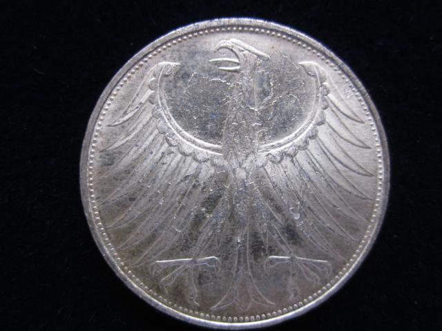 Umlaufmünze Von 1951 Bis 1974 Die 5 Dm Silberadler Münze